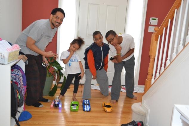 Cub 1 won the remote control car race!
