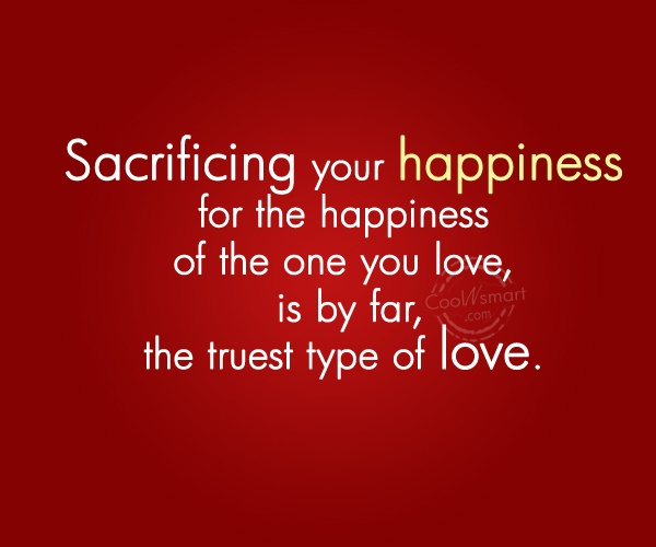 sacrifice-happiness