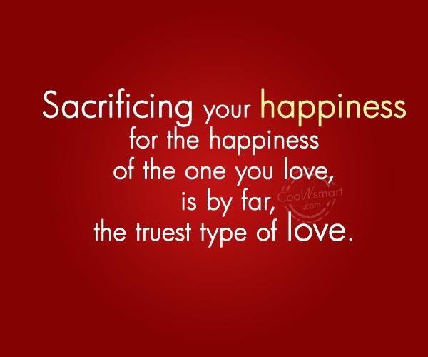 sacrifice-happiness